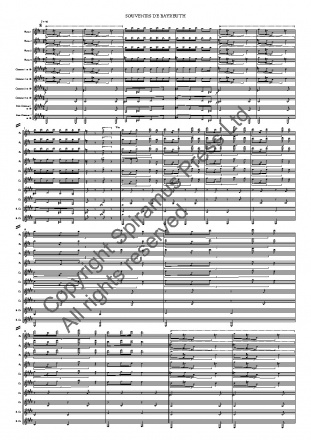 Souvenirs de Bayreuth (arr. for flutes and clarinets)