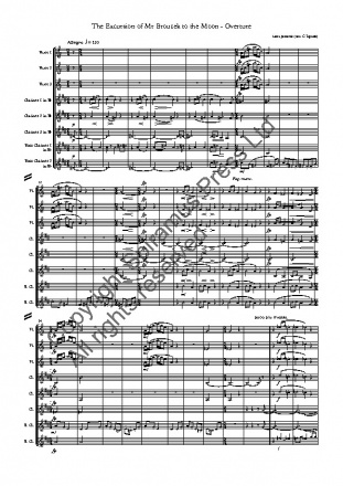 The Excursions of Mr Broucek overture (flutes, clarinets, and bass clarinets)