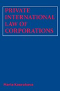 Private International Law of Corporations