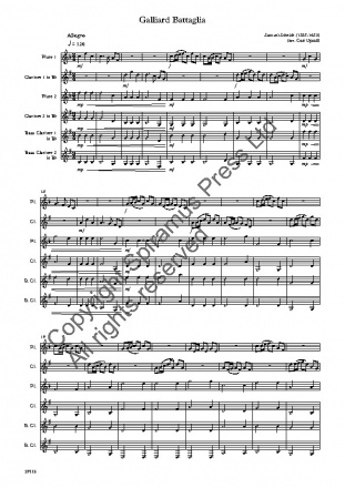 Galliard Battaglia (arr. for flutes and clarinets)